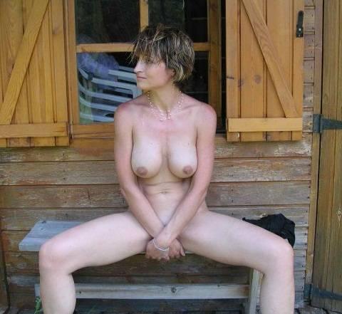 голая жена на даче